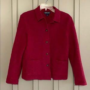 Lands' End Petite Burgundy Jacket size 2